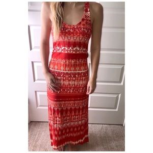 Athlete 'Tide Turn' Hi-lo maxi dress. Size Small.